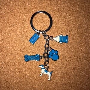 Key Fob COACH Charmed Puppy & Bone